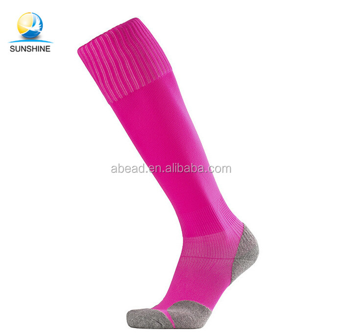 648d60bda0aa New Design Polyester Football Socks Proxy Custom logo Soccer Socks