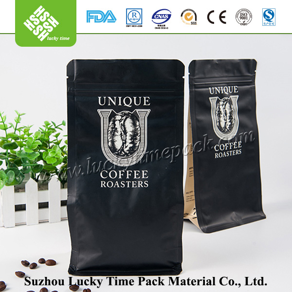 Custom printing coffee bag with valve and zip