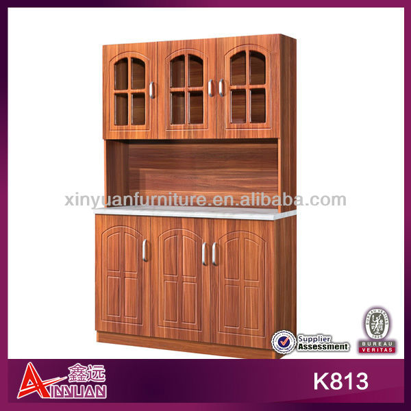 K813 Elegent customised French water proof PVC kitchen side cabinet
