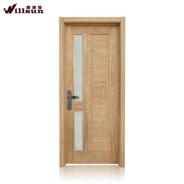 Slap up bathroom pvc doors prices teak veener wooden fire for Door design and rate