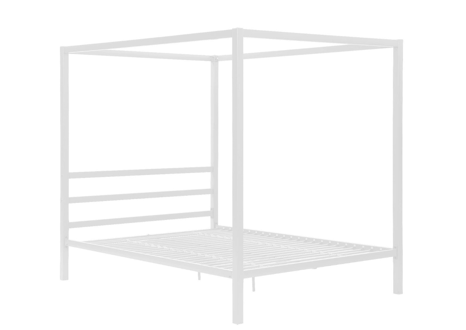 DHP Modern Canopy White Metal Bed, Queen