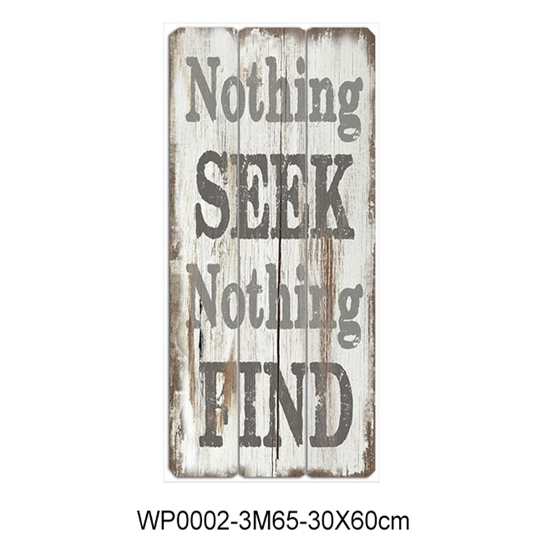 Wholesale rectangle words on wooden plaques wall plaques with sayings
