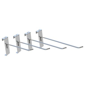 Chrome metal wall grid display hook for store/supermarket