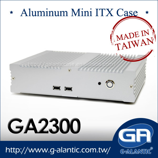 GA2300-High Quality Aluminum Fanless Mini ITX Computer Case