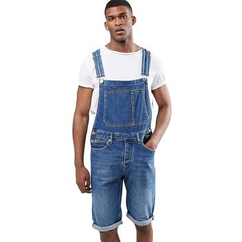 023cf088507d Mid Men s Plain Denim Overalls Shorts