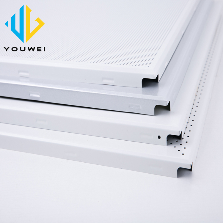 Foshan factory Interior Fireproof Plafond Aluminium mesh cladding square frame board ceiling tile Malaysia style 600X600
