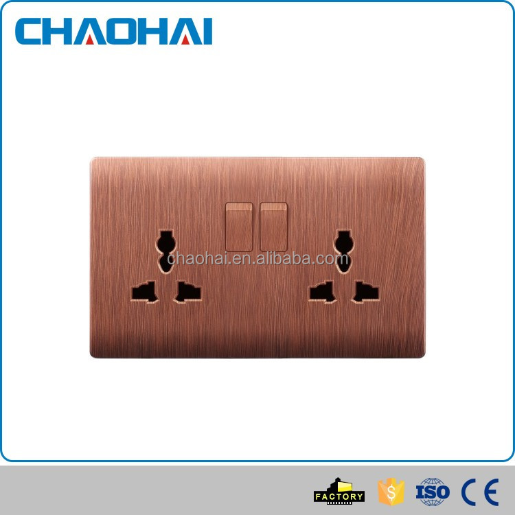 Best seller attractive style kitchen double multi function wall socket with switches