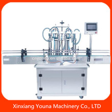 full automatic liquid dispensing machine PLC panel match with capping labeling machine