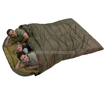 Free Compression Sack Included Sports Mammoth Queen Size Sleeping Bag Double