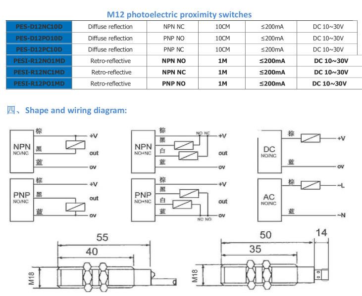 calt optical proximity sensor m12 npn no photoelectric proximity calt optical proximity sensor m12 npn no photoelectric proximity switch