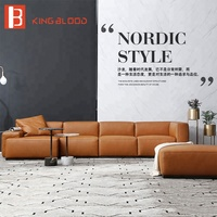 Italian latest designs l shaped sectional feather Nappa leather sofa set