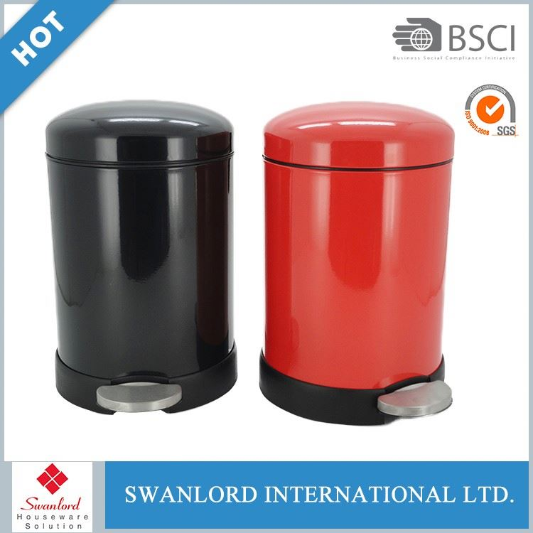 Indoor round steel waste bakset, umbrella bin with color coated