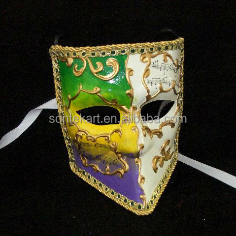 Mysterious colorful full face knight mask