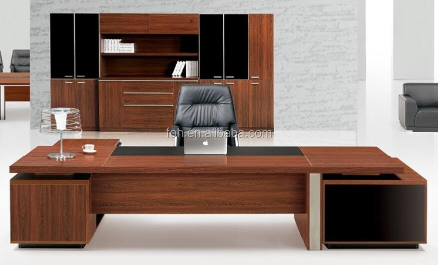 haute classe qualit en bois bois e1 mfc grand patron bureau travail bureau foh p3521 buy. Black Bedroom Furniture Sets. Home Design Ideas