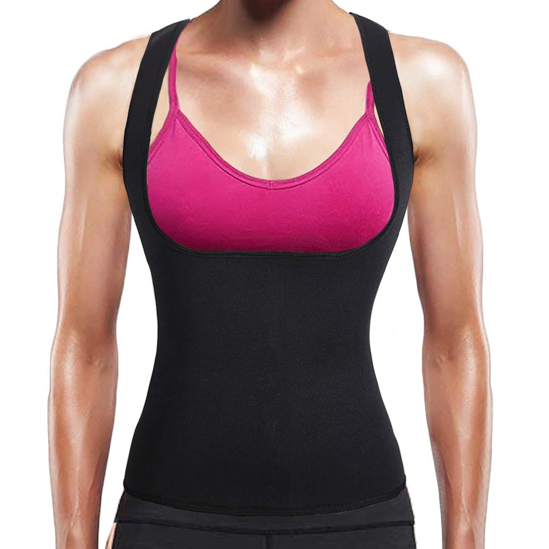 73cc0aeb5 Get Quotations · BURUNST Waist Trainer Vest for Women - Neoprene Sauna  Sweat Body Shaper for Weight Loss -