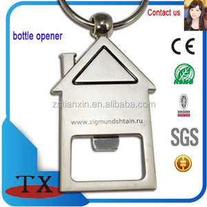 House Home Shape Beer Bottle Opener Keychain