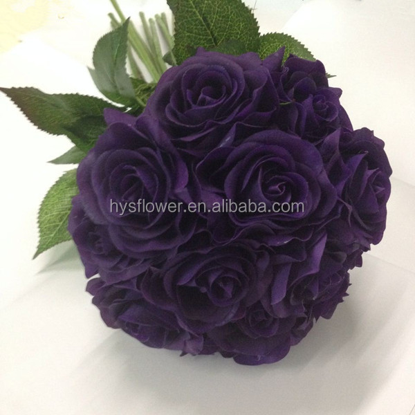 Purple Silk Flowers Wedding Bouquets, Purple Silk Flowers Wedding ...