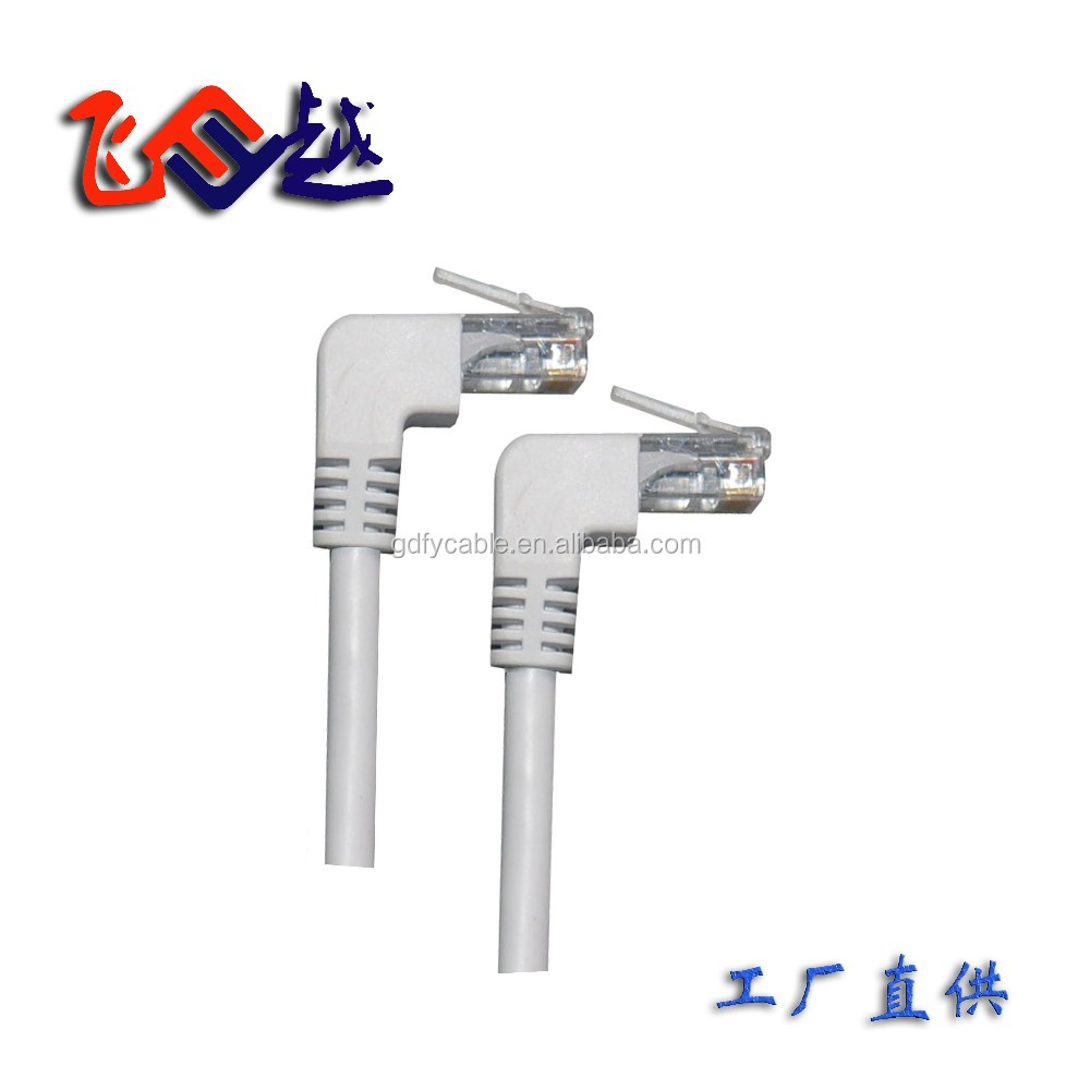 Rj45 Ethernet Cable 90 Degree Male Male Up Angle To