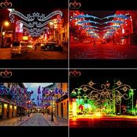 2016 New Design Festival Decoration Led Motif Across Street Light ...