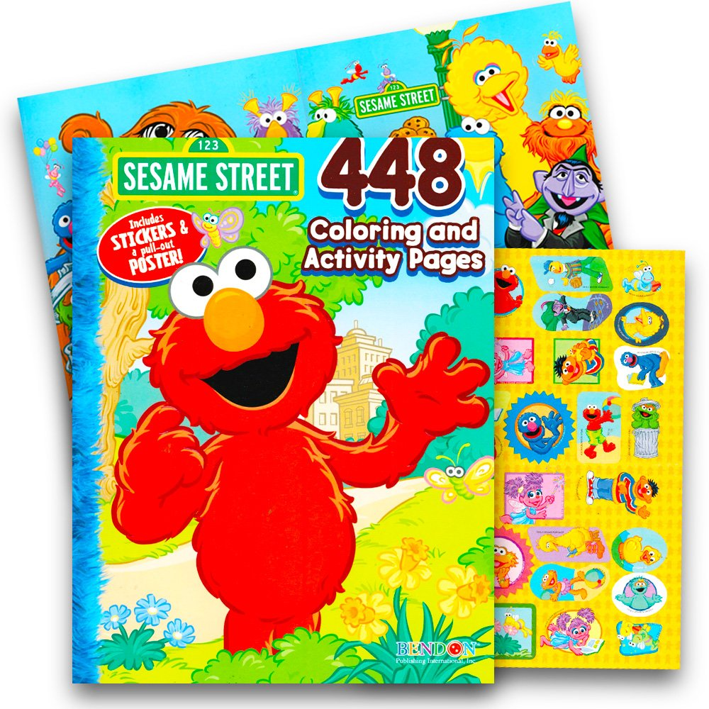 Get quotations · sesame street elmo coloring book jumbo 400 pages featuring elmo cookie monster