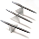 hot Silver Metal Pyramid floating magnetic desk pen set
