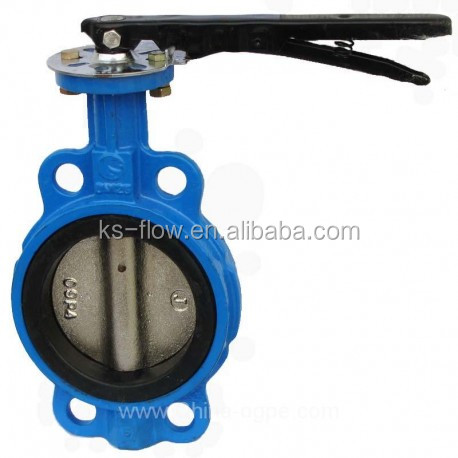 150# EPDM/PTFE Seat SS Disc Wafer Type Butterfly Valve