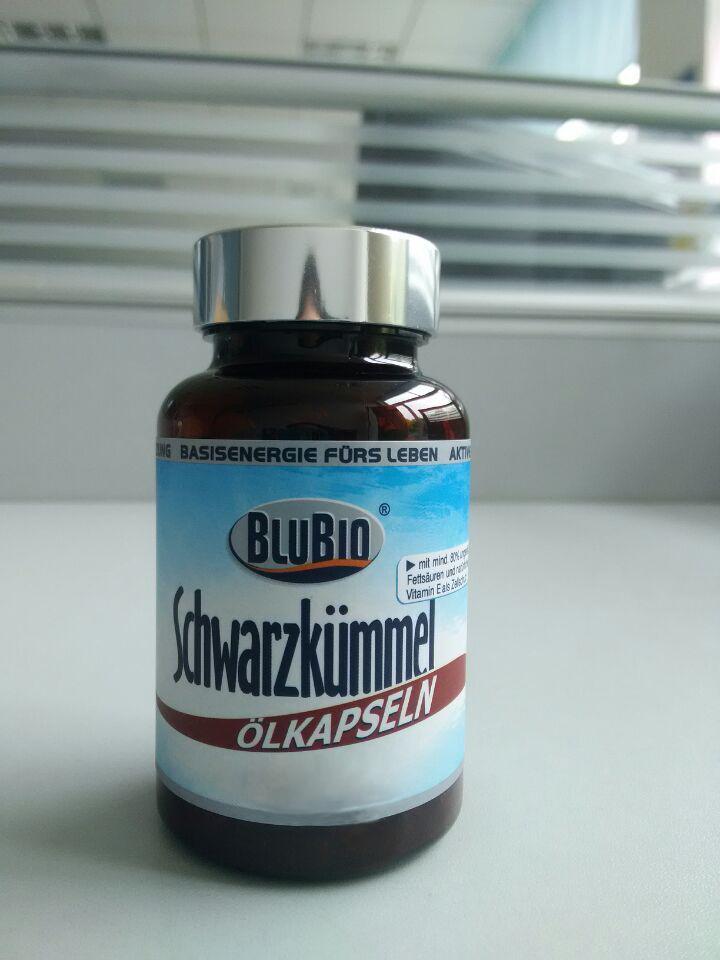 Herbal Supplement BluBio Black Cumin Seed Oil Capsule Can