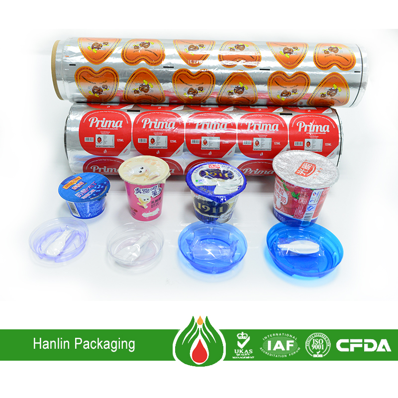 Aluminum foil lid seal liner for food packaging cup