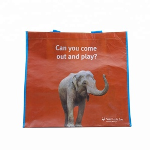 Customized ace PERT tote shopping bags manufacturer with free sample