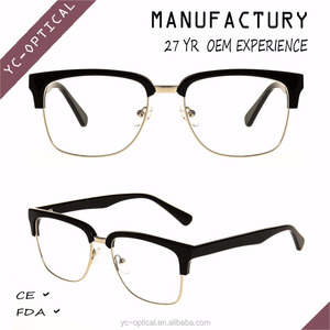 Men high quality cheap reading glasses eyeglass acetate frame official model decoration