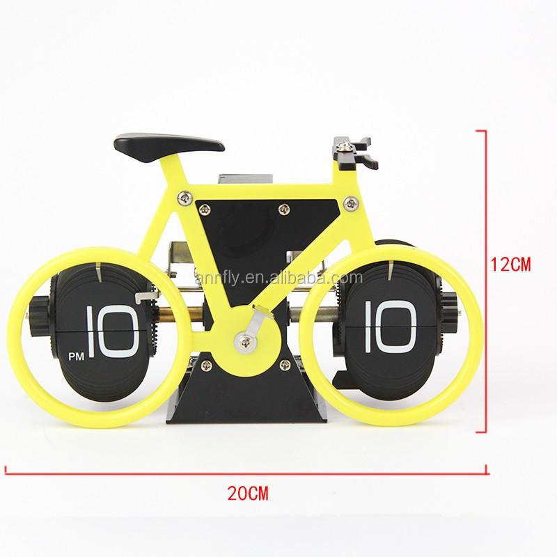 brand new bicycle flip clock time desk clocks for home office decor retro
