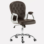 Office Chair Faux Leather Armchair Swivel Adjustable chair Home Office Computer Girl Desk Chairs White