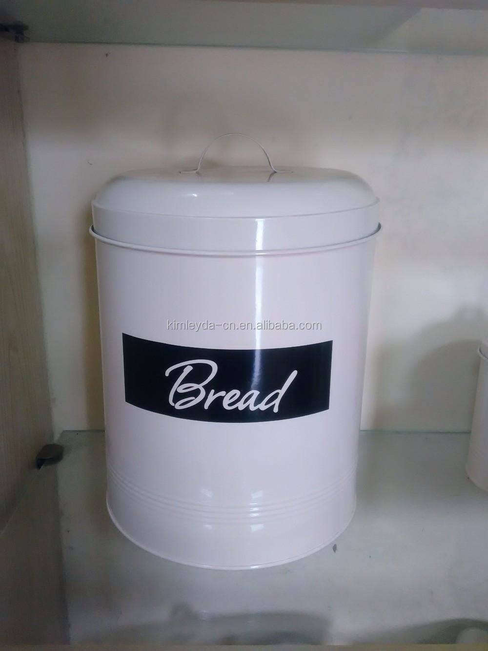 Profesional de cocina de Metal de azúcar café té galletas de pan de etiqueta de cobre recipiente de lata de 5