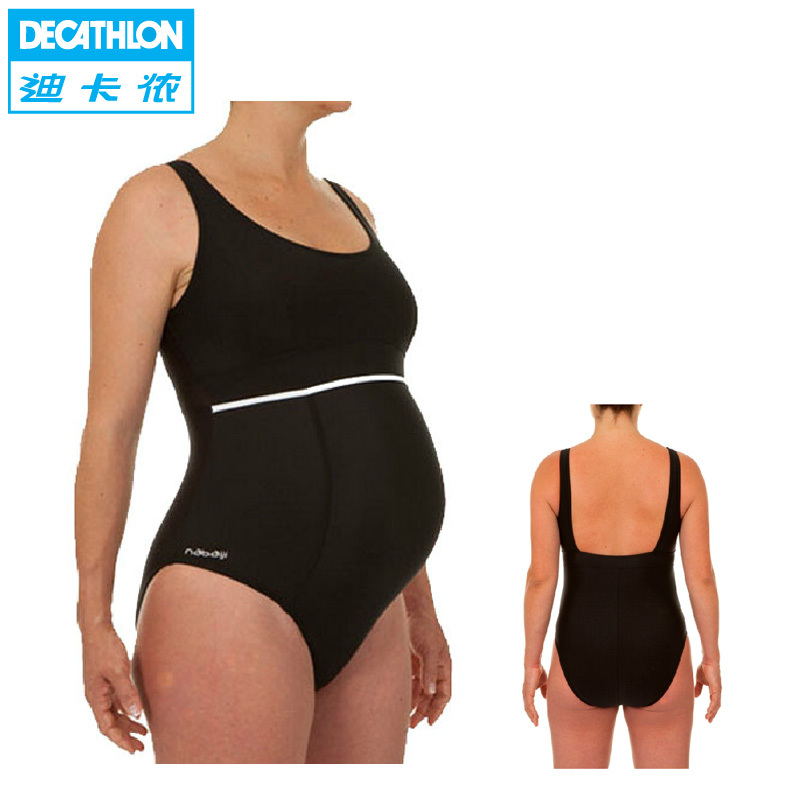 485729692fc6b Maternity One Piece Swimsuit 3 of 7 This suit features back, belly, and side