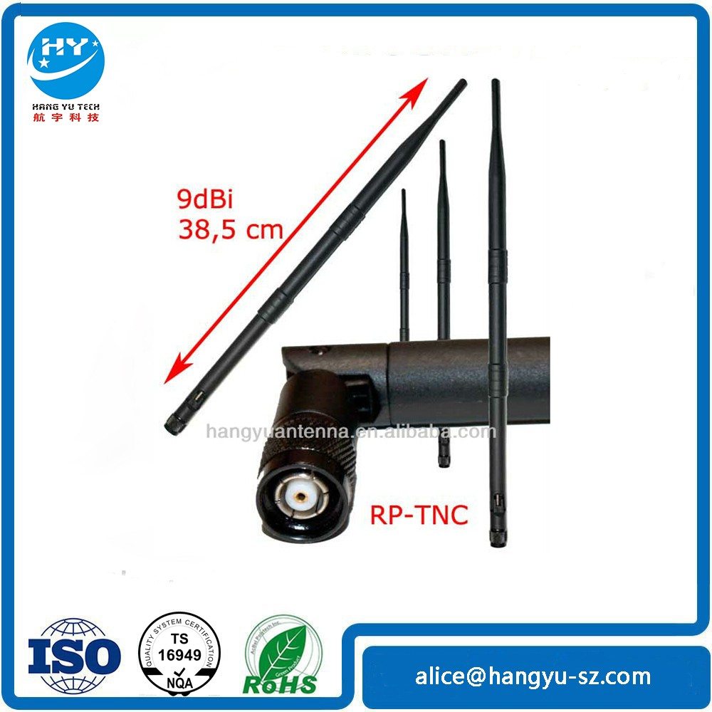 (Manufactory)2.4g 9dbi antenna with RP TNC connector