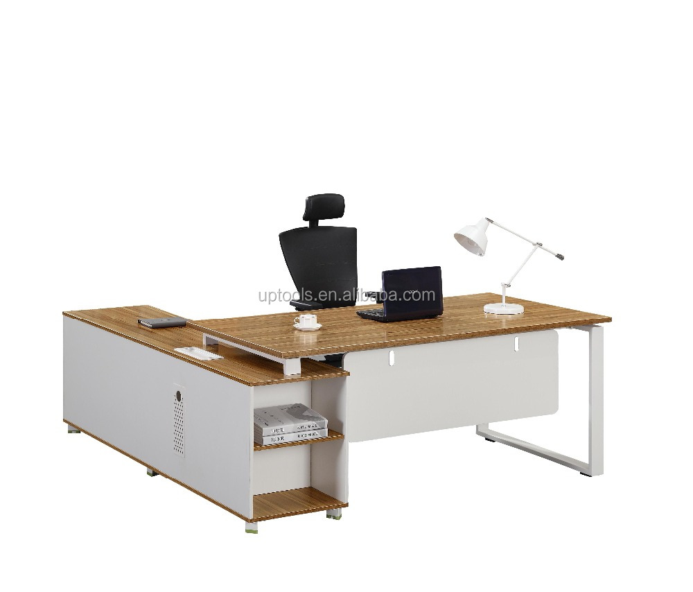 Modern European Melamine Executive Furniture Mdf Wooden L Shape Organizer Antique Style Office Desk Europe Exclusive