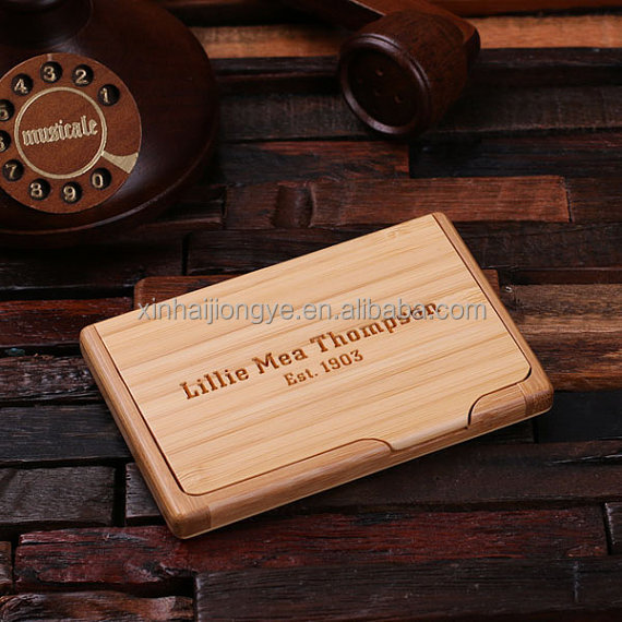 Customized Laser Logo Wooden Business Card Box Storage Boxes