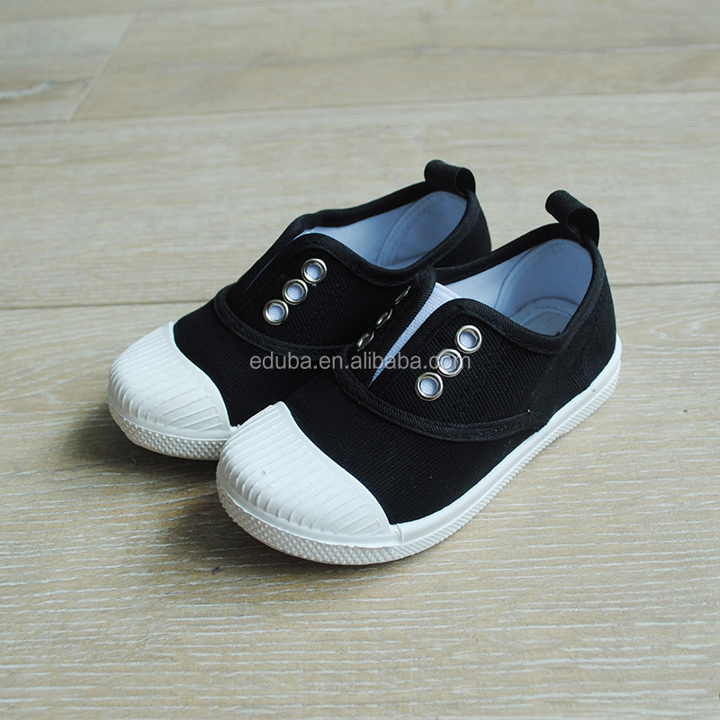 Korean Foreign Trade Autumn Kids Canvas Shoes Elastic Cord Candy Color Baby Shoes