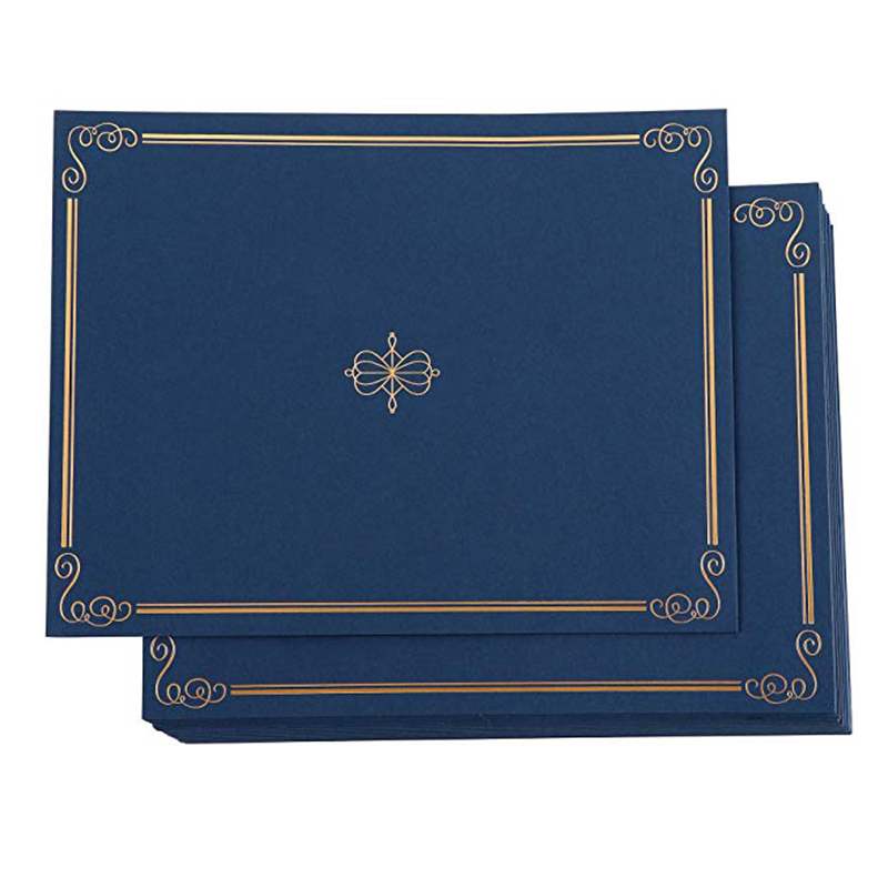 Certificaat Houder-24-Pack Diploma Cover Document Cover voor Brief-Sized Award Certificaten Marineblauw Goud Folie