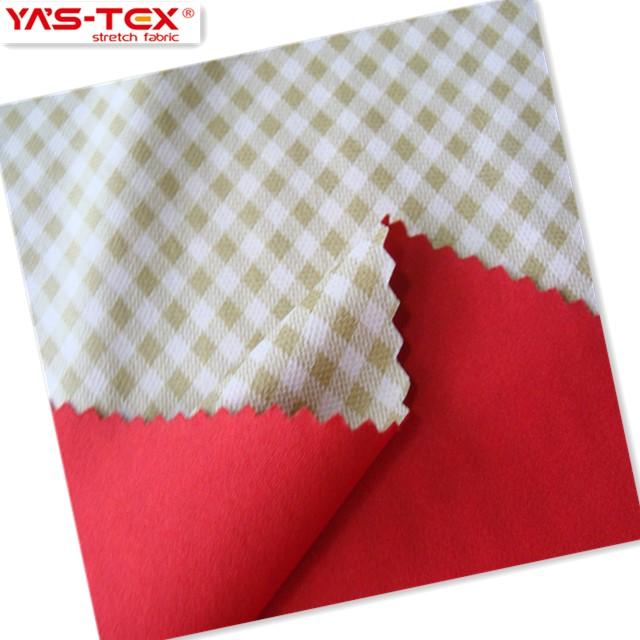 Impermeable tejido de ropa deportiva stretch poliamida pu laminado tela de revestimiento para prendas de vestir