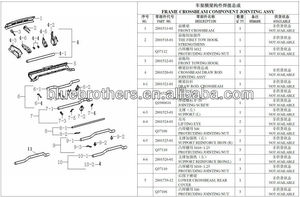 BODY PARTS 9 FRAME CROSSBEAM COMPONENT JOINTING ASSY