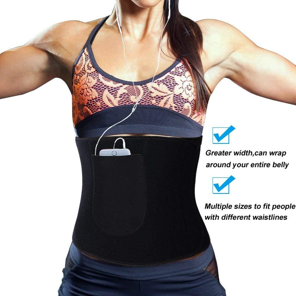 9a264a0b48 SAYFUT Sauna Sweat Waist Trimmer for Men   Women Premium High Waist Trainer  Cincher Weight Loss