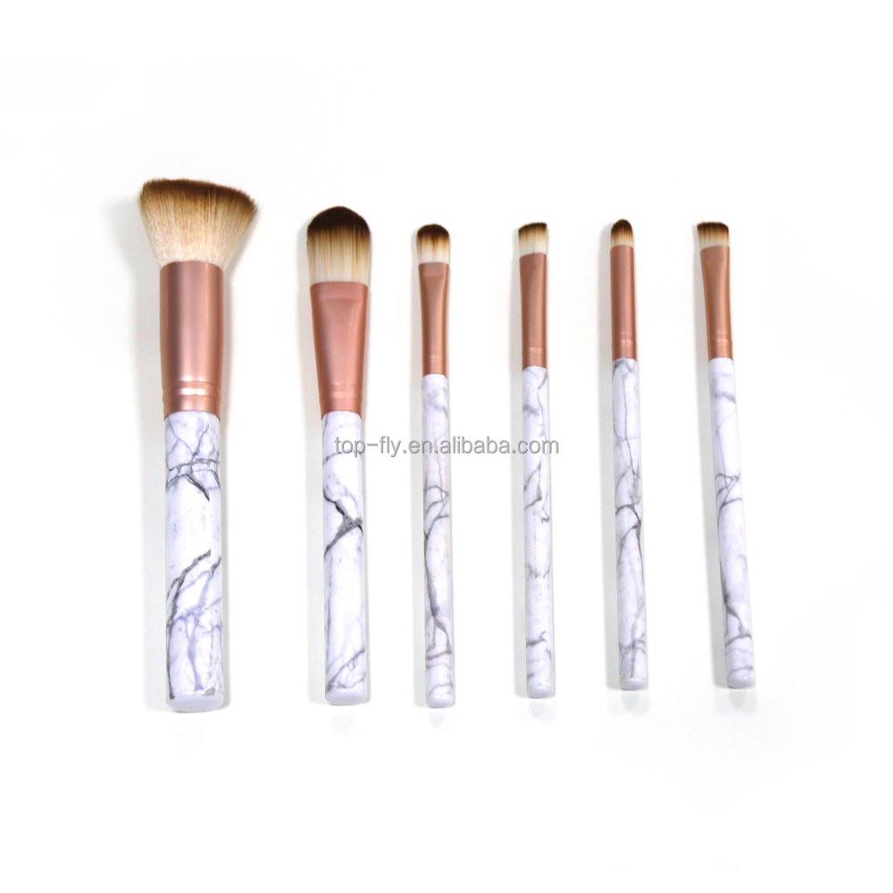 Amazon hot glitter makeup brush set marble up kwasten