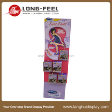 flats hanging display, corrugated standee