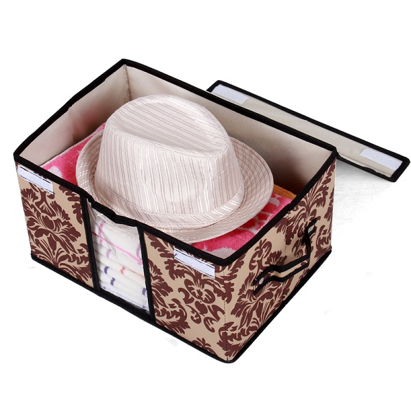 Foldable waterproof multipurpose office hat storage boxes