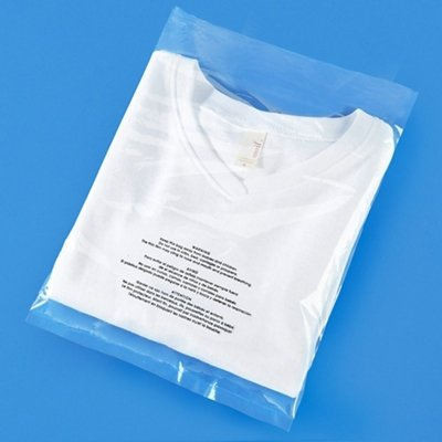 """100 Count - 12"""" X 15"""" Self Seal 1.5 Mil Clear Poly Bags with Suffocation Warning, Permanent Adhesive & Premium Durability (Other Sizes Available)"""