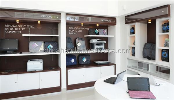 Computer Shop Interior Design Wall Shelves Display - Buy Computer ...