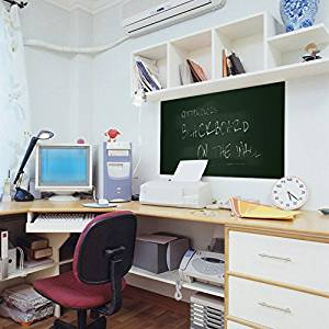 CottonColors Black Board Self-Adhesive Wall Sticker 17.7x78.7 Inches 5 Chalks Included for School,Office,Home