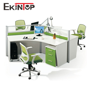 Commercial office furniture 120 degree office workstation for 3 people