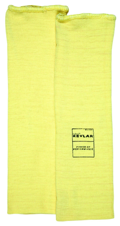 MCR Safety 9372 Kevlar Regular Weight 36 Gauge Plain Sleeve, Yellow, 12-Inch, 1-Pair